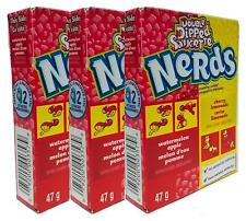 3 x Wonka Double Dipped Saucette Watermelon Apple & Cherry Lemonade Nerds 47g