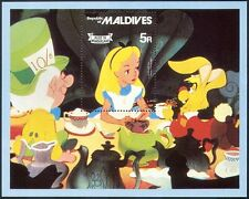 Maldives 1980 Disney/Alice in Wonderland/Books/Animation/Cartoons m/s ref:b3220