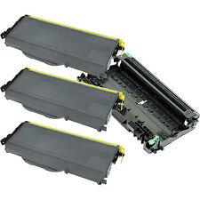 3xTN360 Toner+1x DR360 Drum for Brother HL2140 HL2170W MFC7340 MFC7440N MFC7840W