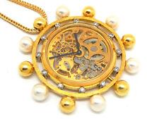 Antique Russian Poul Buhre 18K Gold & diamonds necklace watch MUSEUM QUALITY