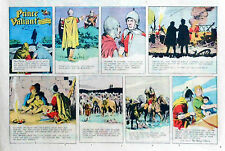 Prince Valiant by Hal Foster - lot of 15 half-page Sunday comics from late 1973