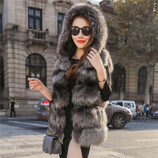 Donna gilet eco pelliccia cappotto senza maniche in pelliccia sintetica faux fur