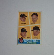1960 Topps #460 Cleveland Indians Coaches Lemon Harder Kress White NRMINT