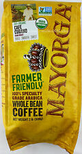Mayorga USDA Organic Coffee Cafe Cubano Arabica Dark Roast Whole Bean 2 Pounds