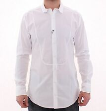 NWT $460 DOLCE & GABBANA White GOLD Slim Fit Dress Formal Shirt 43 / US17 / XL