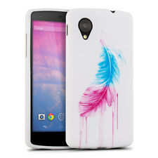 TPU FEATHER SILICONE CASE FOR LG GOOGLE NEXUS 5 BLUE SOFT COVER SILICON
