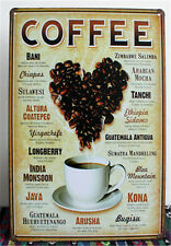 METAL TIN SIGN ART World Coffee Kitchen Shop Home Wall Decor Restaurant 046