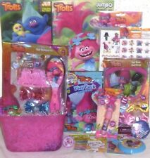 NEW TROLLS EASTER TOY GIFT BASKET FIGURE PLAYSET BOOKS BIRTHDAY GIFT SET TOY LOT