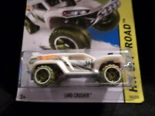 HW HOT WHEELS 2015 HW OFF-ROAD #102/250 LAND CRUSHER HOTWHEELS WHITE JEEP ROVER