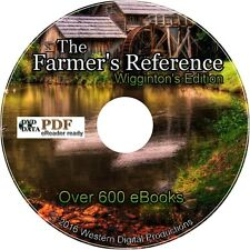 600 Books Wiggintons Foxfire WDP Edition Homesteading Self Sufficiency Gardening