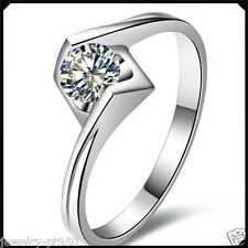 0.60Ct Diamond Solid Platinum PT950 White Gold Engagement Woman Solitare Ring