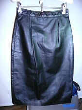 100%Genuine Leather Dimond Leather Skirt  Black Size 8
