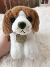 "8"" Aurora Plush Beagle Puppy Dog Miyoni Stuffed Animal Toy 10800"