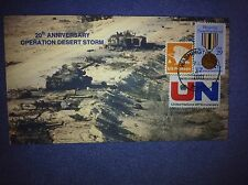 20th ANNIVERSARY OPERATION DESERT STORM-HANDMAKE ENVELOPE-FULL COVER CACHET