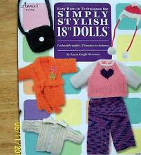 """Knit Simply Stylish Outfits For 18"""" Dolls  Patterns From Annie's"""