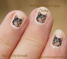 Yorkshire Terrier Puppy, Yorkie, Set of 24 Dog Nail Art Stickers Decals