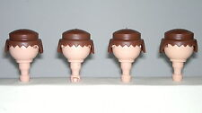 Playmobil Western Oeste Pelos Marrones, Accesorios soldados, Brown Hair, Custom
