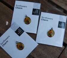 LOT OF 3 Sunflowers VAN GOGH Charm Pendant Bracelet Necklace from museum