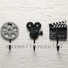 3pcs Vintage Film Equipment Resin Rack Hat Bag Hook Wall Hanger Home Decor New