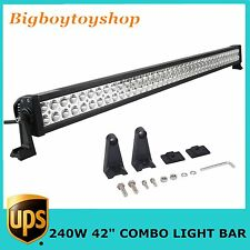 240W 42inch LED Truck Work Light Bar Flood Spot Combo Offroad Driving Lamp JEEP
