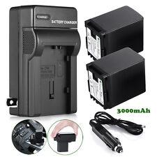 2 BP-827 Battery 3.0Ah For Canon VIXIA HF XA10 G10 G20 HF10 HF100 HF200 +Charger