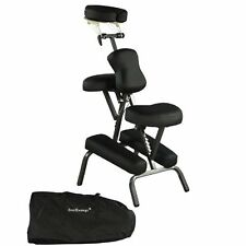 Professional Portable MASSAGE CHAIR for Spa & Tattoo w/ Carry Case - BLACK
