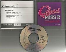 CHERISH w/ DA BRAT Miss P. 5TRX w/ RADIO EDITS & INSTRUMENTAL PROMO DJ CD single