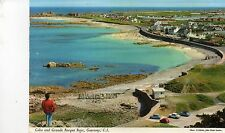 postcard Channel Island Guernsey Cobo and Grande Rocque Bays   posted Hinde