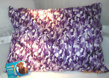 """New Large Dog 27"""" X 36 DOG PET PILLOW BED CAMO PURPLE SELF HEATING WASHABLE"""