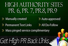 50 PR10 niche related SEO backlinks