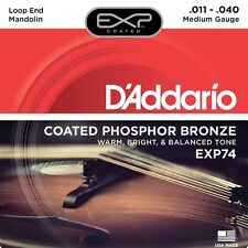 D'Addario EXP74 Coated Phosphor Bronze Warm Bright Mandolin Strings Medium 11-40