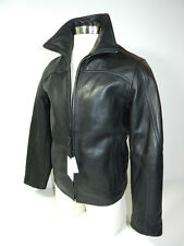 Calvin Klein Jacket Black Leather Mens Size Small New