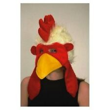 ADULT FURRY FUNNY CHICKEN HAT ROOSTER COCK BIRD FARM ANIMAL CUTE COSTUME MASK
