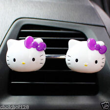 Hello Kitty Mini Air Freshener for Car 2 Pcs Perfume Diffuser Purple KK161
