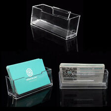 Clear Desktop Business Card Holder Display Stand Acrylic Plastic Desk Shelf FE