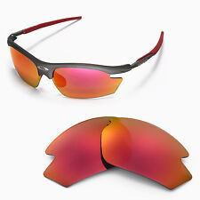 Walleva Polarized Fire Red Replacement Lenses For Rudy Project Rydon Sunglasses