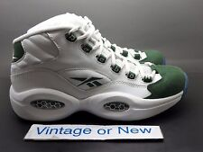 Boys' Reebok Question Mid White Racing Green Allen Iverson Youth sz 6