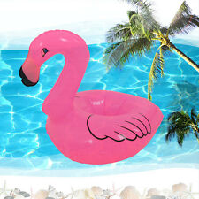 Mini Pink Flamingo Floating Inflatable Drink Can Holder Pool Bath Toys Party exp