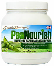 PeaNourish Powder High Protein Pea Based Powder 500g, Energy, Immunity, Burn Fat