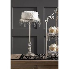 Antiqued Cake Stand For Wedding Cakes Cupcake Mirrored Chic Shabby Tall Pedestal
