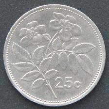 Malta 25 centavos 1986