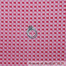 BonEful Fabric FQ Cotton Quilt Pink Baby Girl Block Gingham Check Stripe Calico