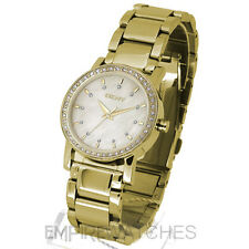 **NEW** DKNY LADIES SWAROVSKI GOLD WATCH - NY4792 - RRP £145.00