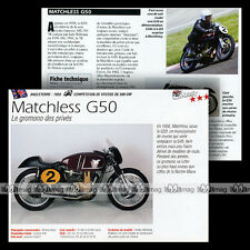 MATCHLESS G50 500 '58 Compétition - Fiche Moto Racing Bike Motorcycle Card MRC