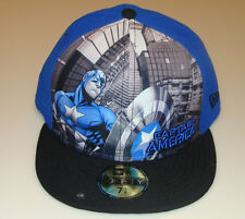 Captain America New Era Cap Hat Fitted 7 1/2 Panel Tone Out Logo DC 59Fifty New