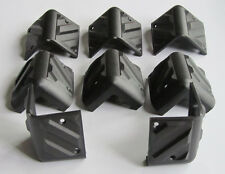 8x Plastic Guitar Amplifier Protector Corner Speaker Cabinet Corners Black