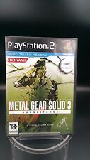 jeu video ps2 playstation metal gear solid 3 subsistence complet TBE