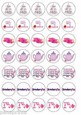 35x fraise tea cancer support cup cake toppers comestible charity
