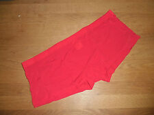 Men's Medium Sexy Seamless Red Nylon Spandex Boxer Briefs Full Back Gay UK