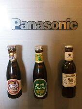 3pcs. 3D Singha, Chang, Leo Thai Beer Collectibles Miniature Fridge Magnet